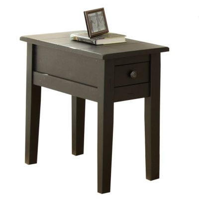 Maisie Chairside End Table-Black