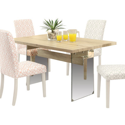 Glassden Glass-Top Dining Table