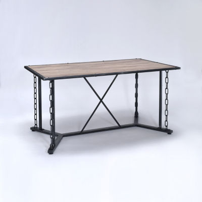 Jodie Wood-Top Dining Table