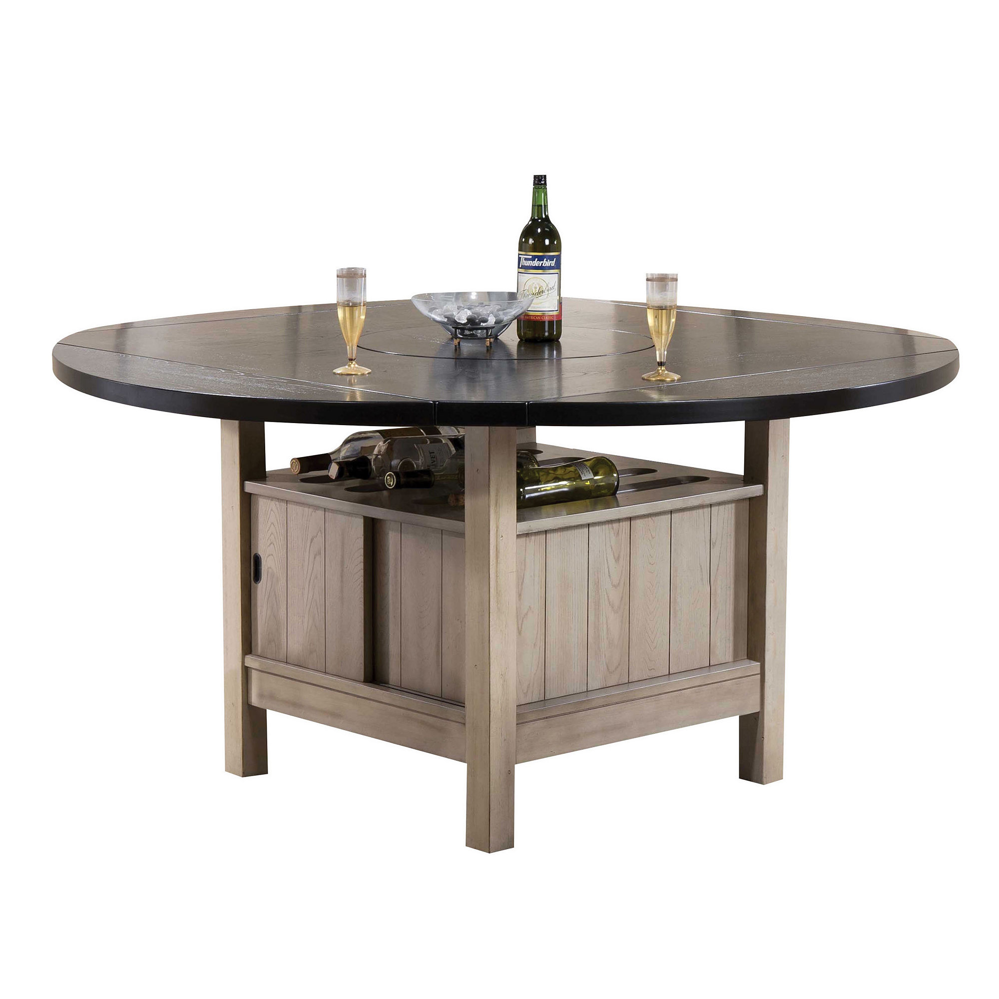Ramona Wood-Top Dining Table