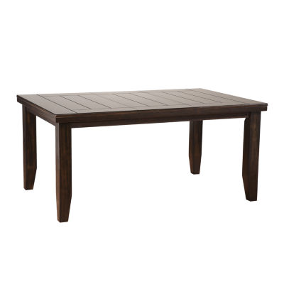 Urbana wood top dining table jcpenney for Table urbana but