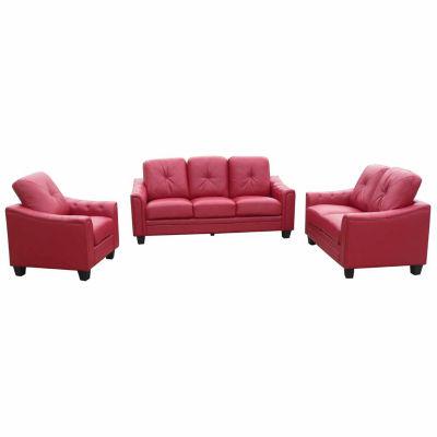 Walden Bonded Leather Sofa