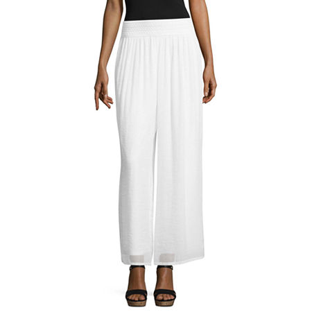 Alyx Womens Wide Leg Pull-On Pants, Small , White