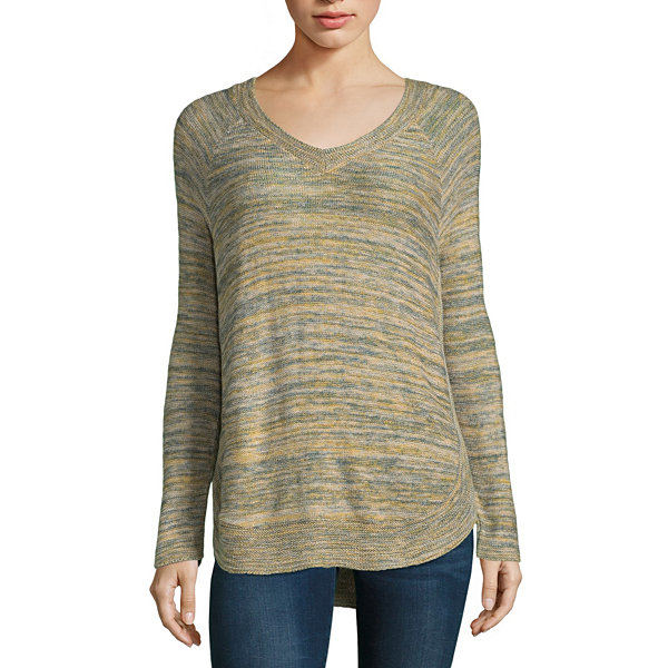 212 NY V Neck Marled Pullover Sweater