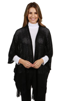 24/7 Comfort Apparel Sweater Knit Malibu Cardigan Shrug