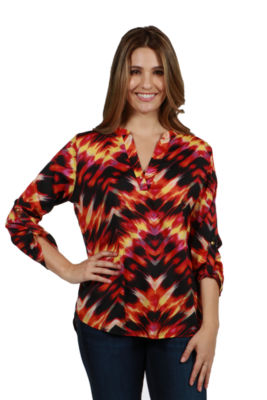24/7 Comfort Apparel Sedona Tunic Top
