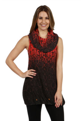 24/7 Comfort Apparel Taylor Sweater Knit Top