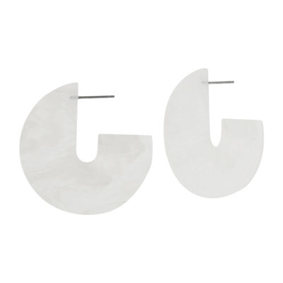 Bijoux Bar 2 Inch Hoop Earrings