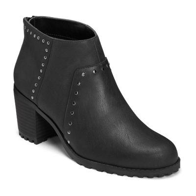 A2 by Aerosoles Womens Inclusive Block Heel Zip Bootie