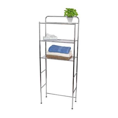 Home Basics Chrome Plated Steel 3 Tier Bathroom Space Saver