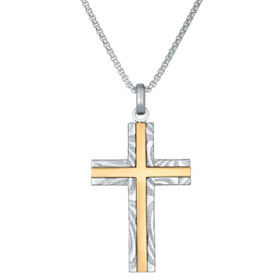 Mens Cross Pendant Necklace
