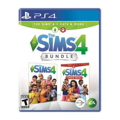 Playstation 4 The Sims 4 Bundle - The Sims 4 + Cats And Dogs Video Game