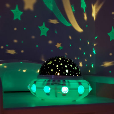 LINSAY® SMART KIDS LAMP Projector UNIVERSE with rotation and music