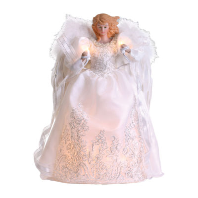 """Roman 14.5"""" Angel Treetopper with 10 LED Lights"""