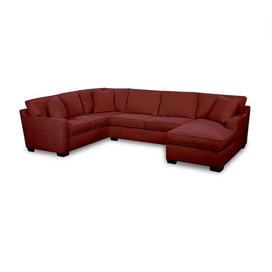 Fabric Possibilities Track Arm 3-Piece Right Arm Facing Chaise Sectional