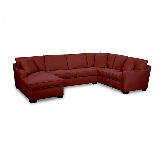 Fabric Possibilities Track Arm 3-Piece Left Arm Facing Chaise Sectional