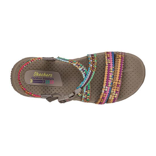 Skechers Reggae - Sew Me Womens Adjustable Strap Footbed Sandals