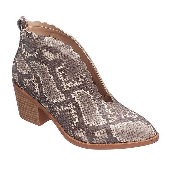 GC Shoes Womens Maris Block Heel Booties