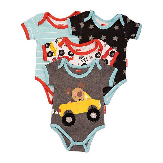 Fisher-Price Baby Boys 4-pc. Bodysuit