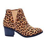 GC Shoes Womens Indira Block Heel Booties