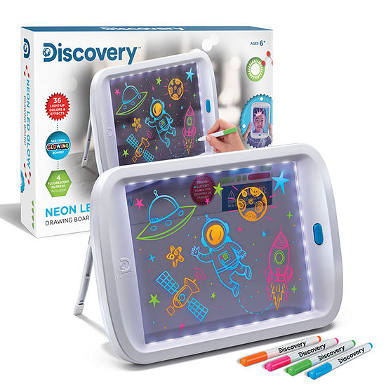 Discovery Kids Toy Drawing Light Board Neon Glow