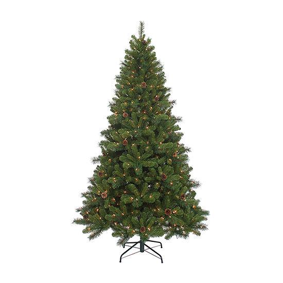 Kurt Adler 7 1/2 Foot Spruce Pre-Lit Pre-Decorated Christmas Tree