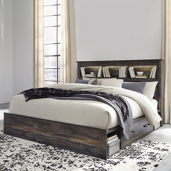 Signature Design by Ashley® Drystan Bookcase Bed with 4-Storage Drawers