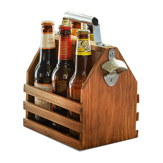 Hammer Axe Bottle Caddy Wood With Opener Gift