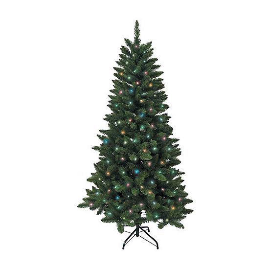 Kurt Adler 6 Foot Pine Pre-Lit Christmas Tree