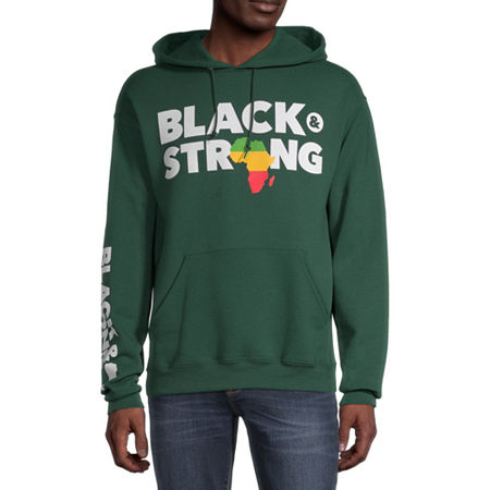 Unisex Adult Long Sleeve Hoodie, Large , Green