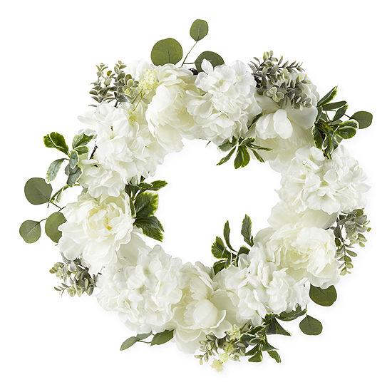 Liz Claiborne White  Hygrangea Wreath