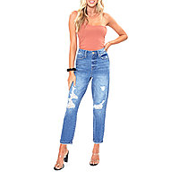Relaxed Fit Women S Jeans Women S Denim Jcpenney Explore our latest selection of relaxed fit jeans for women. ymi womens high rise straight relaxed fit jean juniors