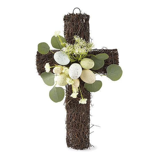 Egg Cross Wreath