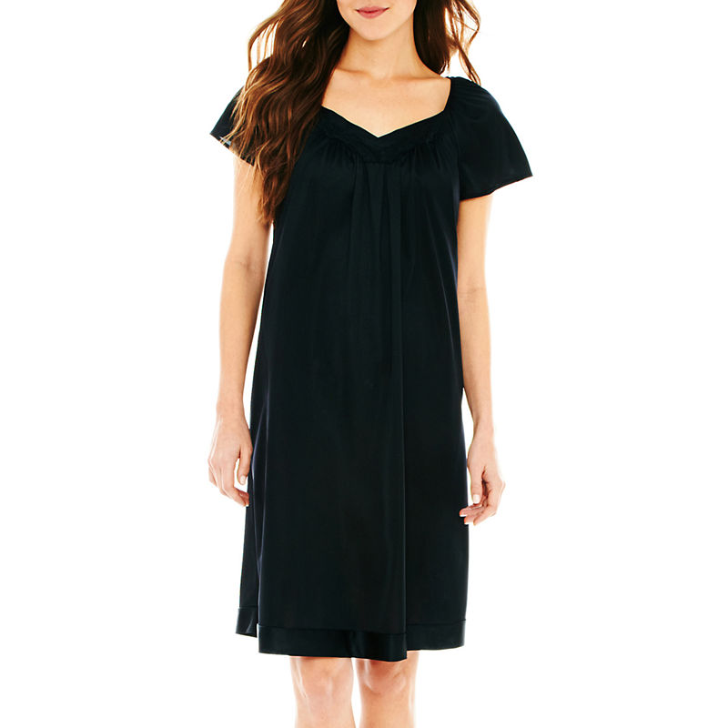 Vanity Fair Flutter-Sleeve Nightgown - Plus plus size,  plus size fashion plus size appare