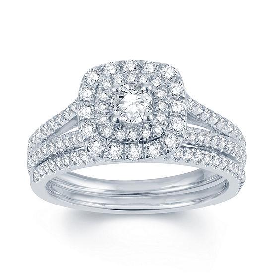 Modern Bride Signature 1 CT TW Diamond 14K White Gold