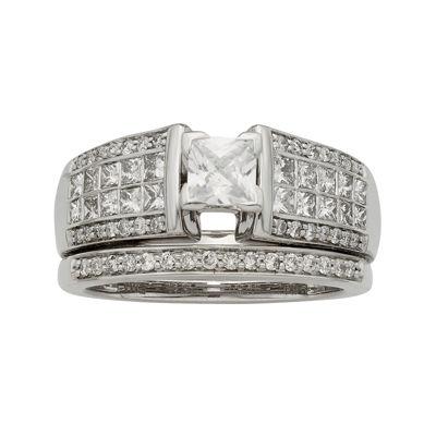 1½ CT. T.W. Certified Diamond 14K White-Gold Bridal Set