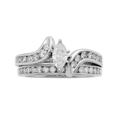 1 CT. T.W. Certified Diamond 14K White-Gold Bridal Set