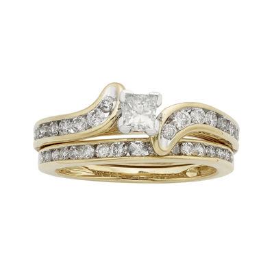 1 CT. T.W. Certified Diamond 14K Yellow Gold Bridal Set