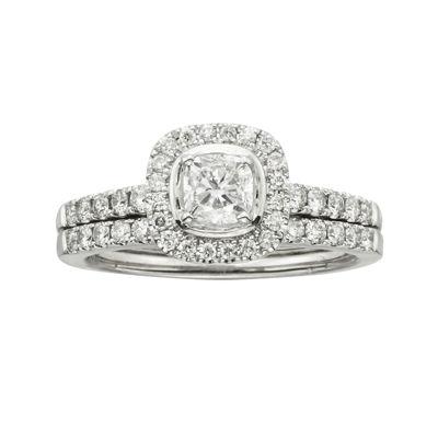 Certified Diamonds 1 CT. T.W. Diamond 14K White Gold Bridal Set