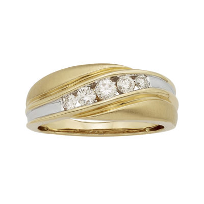 Mens 1/2 CT. T.W. Certified Diamonds 14K Two-Tone Band Ring