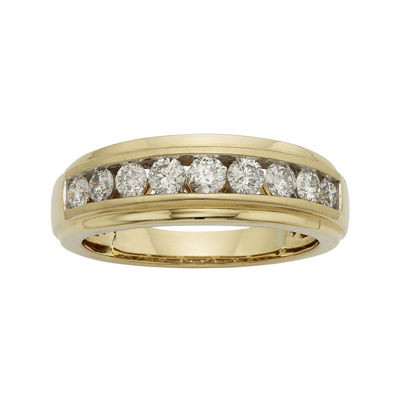 Mens 1/2 CT. T.W. Certified Diamond 14K Yellow Gold Band