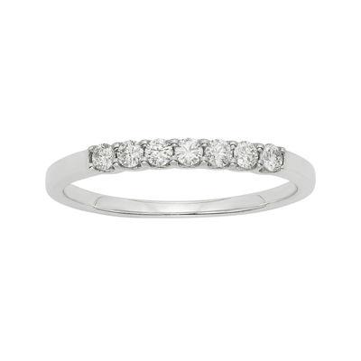 1/4 CT. T.W. Certified Diamonds 14K White Gold Wedding Band Ring