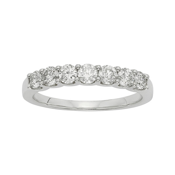 1 CT. T.W. Certified Diamond 14K White Gold Wedding Band Ring