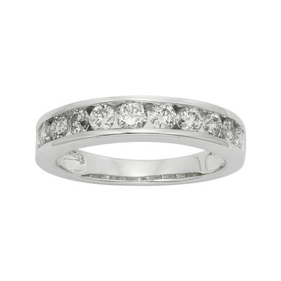 1 CT. T.W. Certified Diamonds 14K White Gold Wedding Band Ring