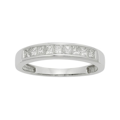 1/2 CT. T.W. Certified Diamond 14K White Gold Wedding Band Ring