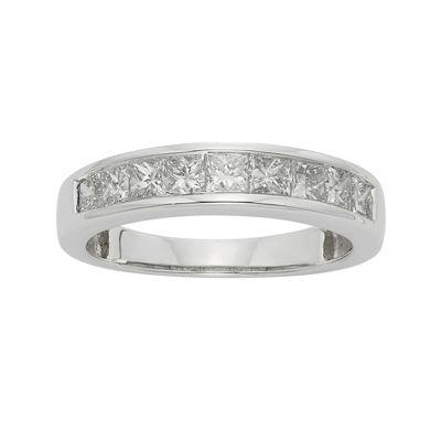 1 CT. T.W. Certified Diamond 14K White Gold Wedding Band Ring