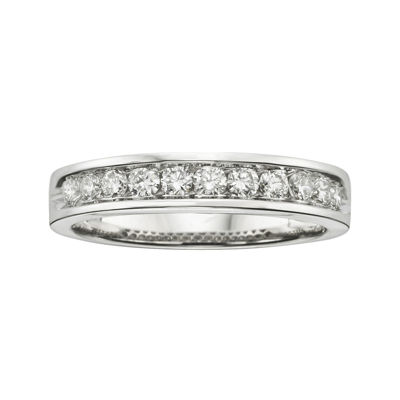 1/2 CT. T.W. Certified Diamonds 18K White Gold Band Ring