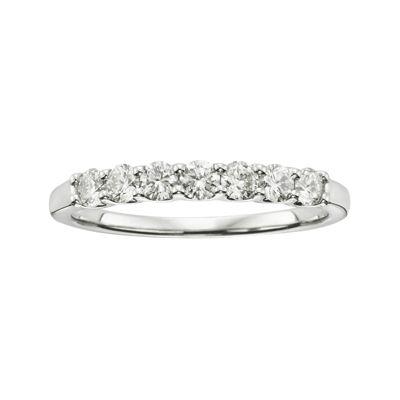 1/2 CT. T.W. Certified Diamonds 18K White Gold Band