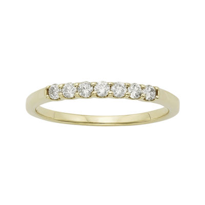 1/4 CT. T.W. Certified Diamond 14K Yellow Gold Wedding Band Ring