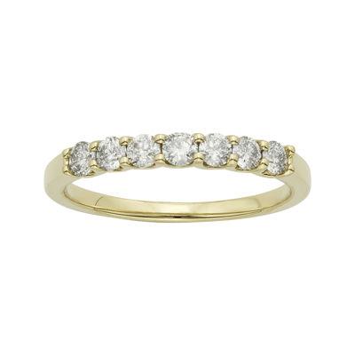 1/2 CT. T.W. Certified Diamonds 14K Yellow Gold Wedding Band Ring